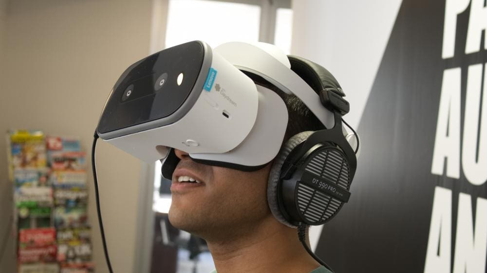 Playing with Lenovo Mirage Solo VR Headset